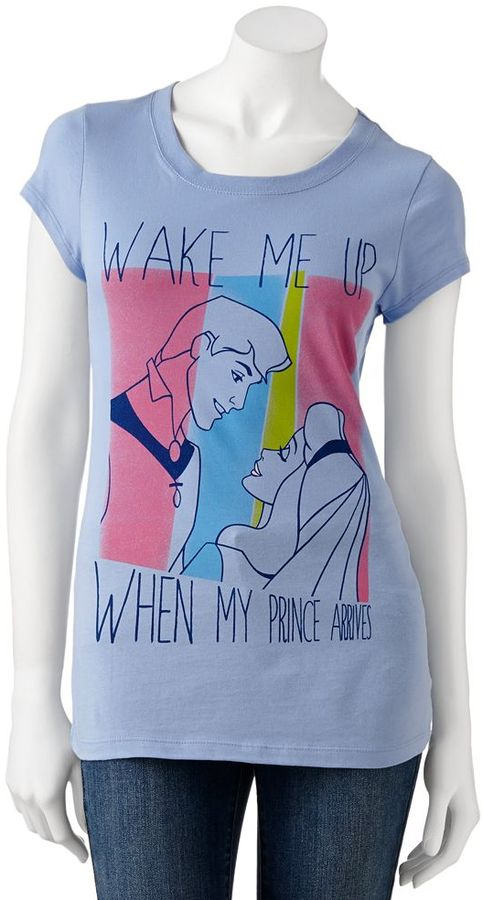 """Jerry Leigh sleeping beauty """"wake me up when my prince arrives"""" tee - juniors"""