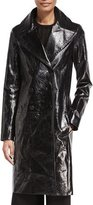 The Row Roza Lambskin Long Coat, Black