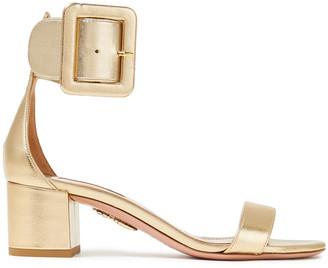 Aquazzura Casablanca Metallic Leather Sandals