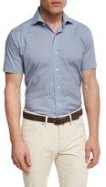 Peter Millar Collection Coastal Collage Short-Sleeve Sport Shirt, Royal