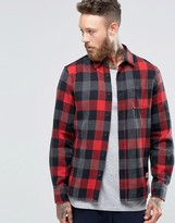 Penfield Valetview Buffalo Plaid Shirt Button In Regular Fit Brushed Cotton