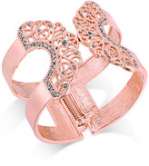 INC International Concepts Pavé Lace Hinged Cuff Bracelet, Created for Macy's