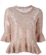Dondup sequin embellished blouse - women - Polyester/Spandex/Elastane/Polyacrylic - L