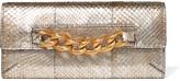 Charlotte Olympia Embellished python wallet