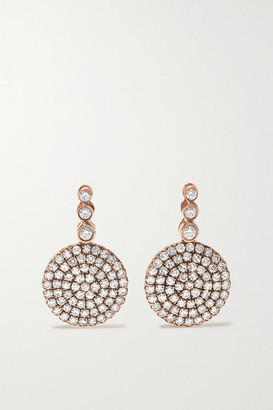Selim Mouzannar Beirut Basic 18-karat Rose Gold Diamond Earrings
