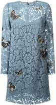 Valentino 'Japanese Butterfly' embroidered heavy lace dress - women - Silk/Spandex/Elastane - 38