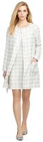 Brooks Brothers Gingham Patch Pocket Coat