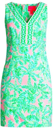 Lilly Pulitzer Vivian Tropical Floral-Print Shift Dress