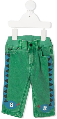 Stella Mccartney Kids Snake Print Jeans