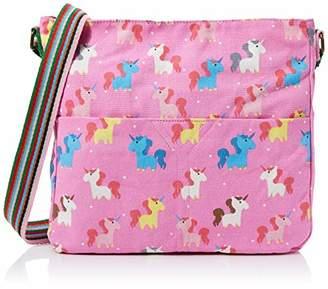 JCUnique Unisex-Child Unicorn Canvas Crossbody Bag - Pink Bag