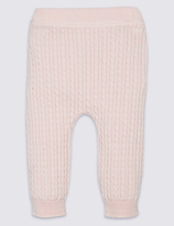 Marks and Spencer Pure Cotton Knitted Leggings