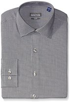Kenneth Cole Reaction Kenneth Cole Men's Slim Fit Check Spread Collar Dress Shirt