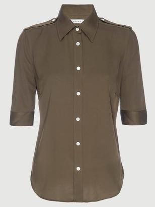 Frame Silk Epaulette 70s Shirt