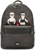 Dolce & Gabbana Volcano designers patch backpack - men - Cotton/PVC - One Size