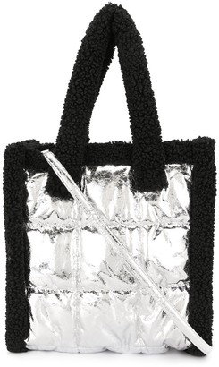 Stand Studio Metallic-Tone Quilted Tote Bag