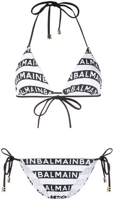 Balmain Logo Stripes Bikini