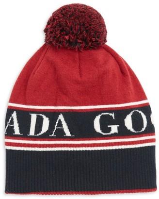 Canada Goose Logo Pom Pom Merino Wool Toque