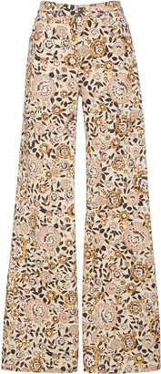 Etro Violetta Stretch Printed High-Rise Flared Jean