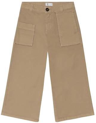 Brunello Cucinelli Kids Stretch-cotton twill pants