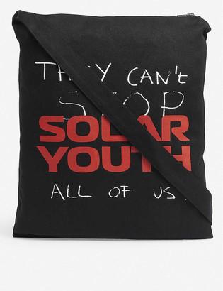 Raf Simons Solar Youth denim printed tote bag