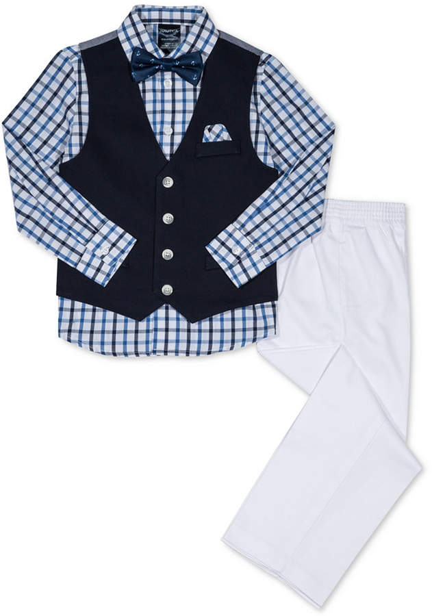 Nautica (ノーティカ) - Nautica 4-Pc. Vest, Shirt, Pants & Bow Tie Set, Little Boys