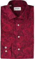 Duchamp Jacquard-rose Tailored-fit Cotton Shirt