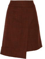 Marni Asymmetric wool-blend skirt