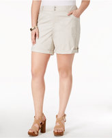 INC International Concepts Plus Size Cuffed Shorts, Created for Macy's
