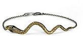 J Dauphin Gold Snake Silver Bracelet