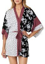 Kensie Printed Kimono Robe