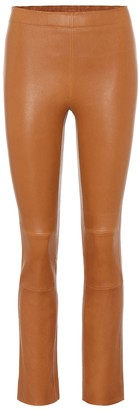 STOULS Maria Rosa high-rise leather pants