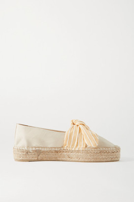 Castaner Kay Bow-detailed Canvas Espadrilles - Beige