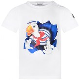Moncler MonclerBaby Boys White Duck Top