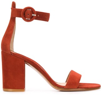 Gianvito Rossi Block Heel Side Buckle Sandals