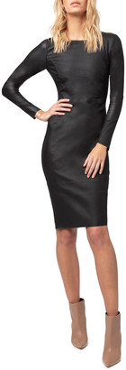 Diane von Furstenberg As By Mrs. Smith Stretch Leather Dress
