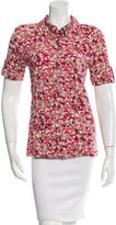 Tory Burch Floral Print Short Sleeve Top