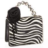 Black Zebra Print Calf Hair and Leather Mini Bag