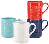 Kate Spade Four-Piece Idiom Stacking Mug Set