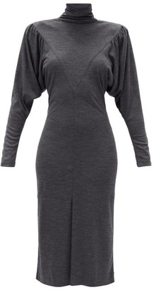 Isabel Marant Genia Mock-neck Melange Dress - Grey