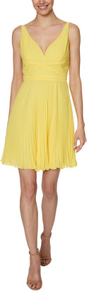 Laundry by Shelli Segal Chiffon Pleated Mini Dress