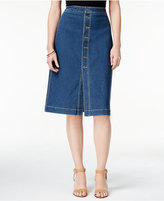 Style&Co. Style & Co. Petite Button-Front Denim Skirt, Only at Macy's