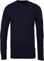 Barbour Bearsden Navy Marl Crew Neck Sweater