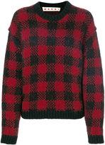 Marni grid check sweater