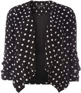 Dorothy Perkins Spotted Crepe Waterfall Jacket