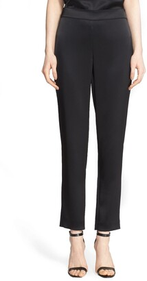 St. John Emma Satin Ankle Pants