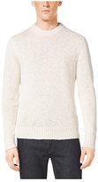 Michael Kors Slub Linen And Cotton Crewneck Sweater