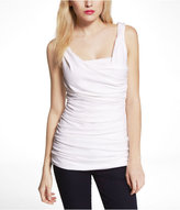 Express Ruched Drape Neck Tank