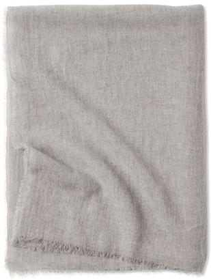 Oyuna Esra Finely Woven Light Cashmere Throw Grey Mist