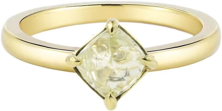 "Diamond in the Rough Rough Diamond Yellow Gold Ring ""Moderne"""