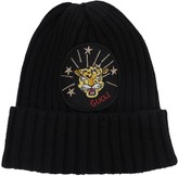 Gucci LION PATCH KNITTED CASHMERE HAT